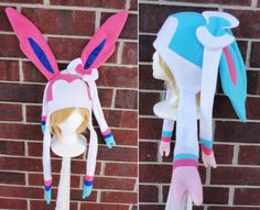Hey, I found this really awesome Etsy listing at https://www.etsy.com/listing/170796319/sylveon-and-shiny-sylveon-pokemon-hat-a