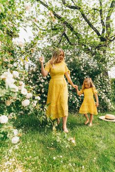 The dress you need to have is here. The bright yellow dress of our summer dreams makes all feel bright sunny. Match with you little girls so you can rock the summer away. Little Girl Fashion, Little Girl Dresses, Girls Dresses, Sunny Dress, Dress Up, Mother Daughter Matching Outfits, Mom Daughter, Daughters, Summer Family Photos