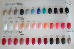 i would love to try all these fun colors! Vernis Semi Permanent Sensationail, Sensationail Gel Polish, Shellac Manicure, Gel Polish Colors, Gel Nail Polish, Nail Colors, Gorgeous Nails, Pretty Nails, How To Do Nails