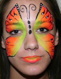 butterfly uv face paint