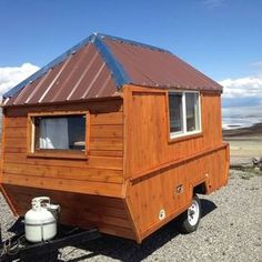 How This Man Converted His Pop Up Camping Trailer Into A DIY Micro Cabin On Wheels Really Small Tiny House To Travel With