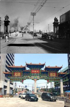 Dito, Noon: Quintin Paredes St. in Binondo, 1930s x 2010s. #kasaysayan -- The road was formerly known as Calle Rosario after the district's patron saint. It was later renamed after a Filipino lawyer and statesman Quintin Paredes who became both a legislator for Abra and Speaker of the House. Philippines Culture, Manila Philippines, Rare Photos, Vintage Photos, Patron Saints, Present Day, Filipino, Lawyer, Old Town