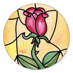 Shop Rose Window Sticker created by CheyArtist. Rose Window, Stained Glass Patterns, Window Stickers, Gift Bags, Flower Patterns, Windows, Create, Holiday, Flowers