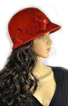 Pure Wool Cloche Women's Hat Woven Feather Design with Matching Band - Red Belle Donne http://www.amazon.com/dp/B00IB13DVI/ref=cm_sw_r_pi_dp_8jZ-vb1M44Y4F
