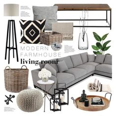 A home decor collage from September 2016 by emmy featuring interior interiors interior design home home decor interior decorating Arteriors Heathfield amp; Living Room Modern, Home And Living, Living Room Designs, Modern Farmhouse Living Room Decor, Small Living, Rustic Farmhouse, Farmhouse Contemporary, Classy Living Room, Modern Contemporary Living Room