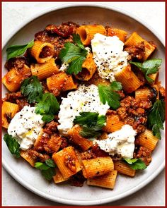 Think Food, I Love Food, Healthy Dinner Recipes, Cooking Recipes, Best Pasta Recipes, Cooking Ideas, Fall Recipes, Pasta With Meat Sauce, Sauce Pasta