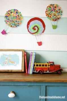hot air balloon craft | the handmade home