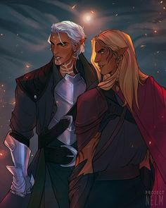 "junie-junette:  "" projectnelm:  ""wow da4 looks great.  ""  Hawke and Warden screaming their love in the distance.  Such a great drawing !  """