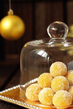 yemas de almendra - made with condensed milk, almonds, eggs (page will translate into English for you)