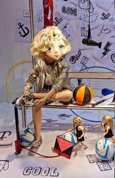 Harvey Nichols Knightsbridge This season's window display plays with the notion of 'Fashion School.'