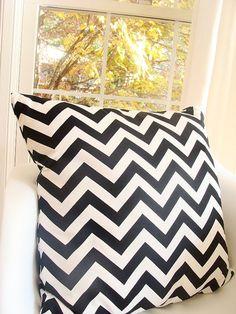 Etsy - Black Chevron Pillow - $27