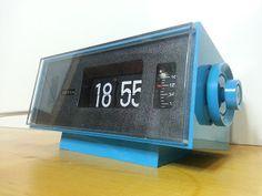 Reloj Despertador Artin Azul Blue Artin flip clock Space Age, Pop, Vintage Clock