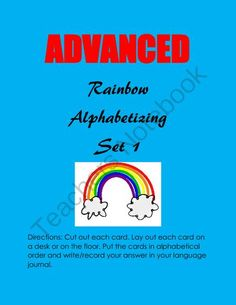 Advanced Alphabetizing (Center Activity) from Laila_Camacho on TeachersNotebook.com -  (8 pages)  - Build on beginning skills and solidify all there is to know about placing words in alphabetical order. This hands-on unit is great for advanced learners.