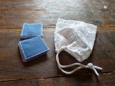Lot de 10 carrés démaquillants et leur filet de lavage, recyclé : Soin, bien-être par le-royaume-de-physalis