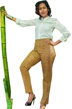 Sleek and professional these are the perfect pants for the office, and did we mention they have a pocket? Mosaic, Dress Up, Slim, Legs, Pocket, Retro, Stylish, Cotton, Pants
