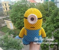 How to make 3d origami minion!