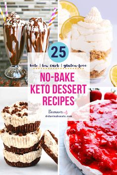 No-bake desserts fit every level of home cook. They are perfect for people who are not confident in the chemistry of baking, want to make something quickly, and those who don't want to heat up the house with the oven. This list includes plenty of easy, No-Bake Keto dessert options that allow you to cure your sweet tooth minus refined sugar. #nobake #nobakedessert #ketodessert #ketorecipes #dessert #lowcarbrecipes Low Carb Desserts, No Bake Desserts, Easy Desserts, Low Carb Recipes, Dessert Recipes, Cookie Recipes, Raw Recipes, Italian Desserts, Frozen Desserts