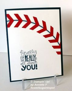 Baseball 'Punch Art' Card?  Yes! from Flowerbug's Inkspot