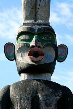 The totem poles of Alert Bay, BC. #explorebc [Photo by Kate McKenna]