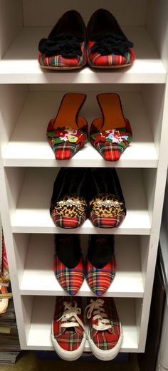 TartanTerraceBlog: Tartan shoes in the closet! LOVE