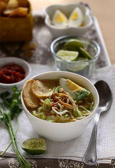 Soto Ayam Madura - Chicken soup from Madura Island/ Indonesia