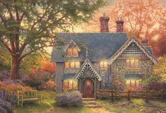 Thomas Kinkade Happy Thanksgiving | Tuesday, June 26, 2012