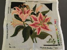 nice Elizabeth Bradley Botanical Backyard LILY Needlepoint Canvas & Chart 1992 STARTED Check more at https://aeoffers.com/product/arts-and-crafts-collectibles-handmade-online/elizabeth-bradley-botanical-backyard-lily-needlepoint-canvas-chart-1992-started/