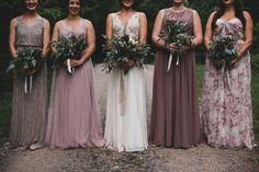 Beautiful color of bridesmaid dresses!
