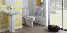 Pure Bathroom Suite    The easy elegance of Pure is at home in any bathroom. With a relaxed charm that has a lovely contemporary feel and a host of top quality features, the Pure bathroom suite is priced superbly and has a variety of great options. The range includes a semi-recessed basin, a back-to-wall toilet, a standard close-coupled toilet as well as a comfort-height toilet that helps reduce the burden on those tired legs.