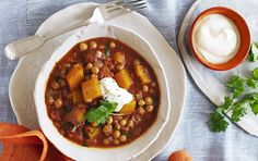 This fragrant pumpkin and chickpea curry makes a hearty vegetarian meal.