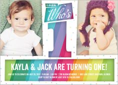 35 best twin birthday invitations images on pinterest twin