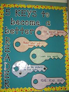 Five Keys To Becoming A Better Reader Bulletin Board