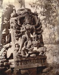 Statue of Durga slaying Mahisasura, Dulmi, Manbhum District