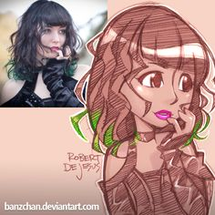 Sophiwophi Reference by Banzchan on DeviantArt Foto Cartoon, Photo To Cartoon, Cartoon Faces, Cartoon Art, Character Drawing, Character Illustration, Character Design, Cartoon Sketches, Art Sketches