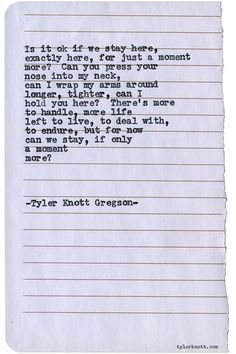 Typewriter Series #1500 by Tyler Knott Gregson Chasers of the Light & All The Words Are Yours are Out Now!