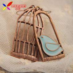 2015 Vintage Earrings Fashion Designer Oil Bird Alloy Bird Cage Lovely Drop Earring For Women Brincos de gota feminino-in Drop Earrings from Jewelry & Accessories on Aliexpress.com | Alibaba Group
