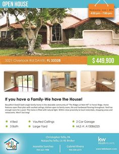 Are you looking for 4 bed / 3 bath home in Davie?  3321 Overlook Rd Davie, FL 33328