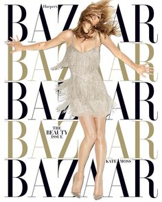 Kate Moss Shines for Harpers Bazaar May 2014 Cover by Terry Richardson