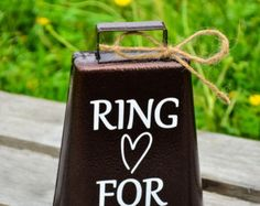 Ring for a Kiss Wedding Bellrustic wedding by DownSouthMonogram