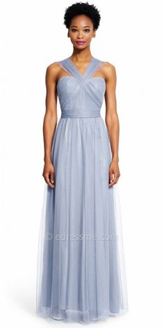 The Chiffon Ruched Convertible Strap Evening Dress by Adrianna Papell is versatile, stylish and elegant. This unique dress features a sweetheart neckline, a sleeveless ruched bodice, a low back with an invisible zipper and a straight chiffon skirt. The dress includes a versatile strap that can be tied and styled multiple ways to create stunning looks that cater to your personality. #edressme