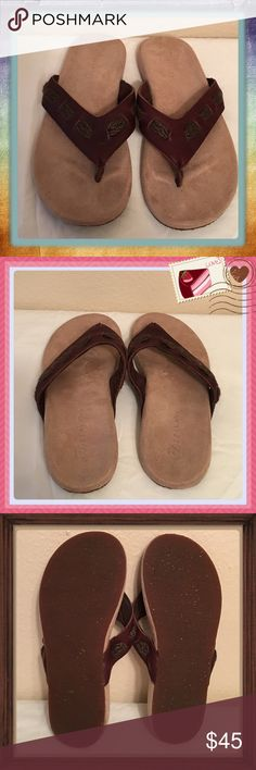"""NWOT Zealand Ortho Sandals Brown Leather SZ 6 Very well crafted with toe support. Only come on in whole sizes & the SZ 6 fit me & I normally wear a 6.5 to 7. In 6 months I've been out of the house 12 times & I have 60 pair of sandals & can never wear them all. Can't keep holding onto things. Purchased at """"The Walking Company"""" for $107 after tax. I'm positive you would be very happy with them. I've thought about selling & changed my mind so many times & still haven't worn them so they are…"""