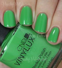 CND VINYLUX Lush Tropics | Summer 2014 Paradise Collection | Peachy Polish #green