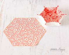 For Torea- Hexagon Fabric Tray Tutorial by A Spoonful of Sugar
