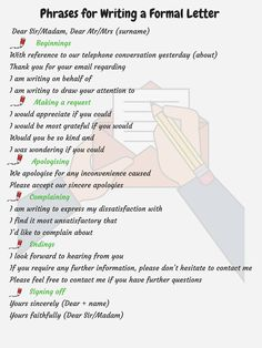 Useful Words and Phrases for Writing Formal Letters in English 14 Essay Writing Skills, Ielts Writing, English Writing Skills, Writing Words, Teaching Writing, Business Writing Skills, Writing Letters, Dissertation Writing, Cursive Letters