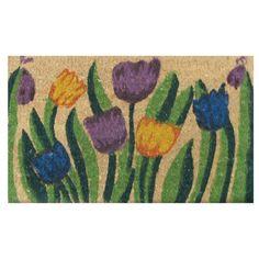 Rubber-Cal, Inc. Tulip Garden Doormat