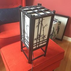 "Japanese Black Bamboo Lantern Light Gently used condition. About 18"" L x 7.5"" W. Uses a 40w lightbulb. Gets hot fast.  Comes from a smoke-free, but not pet-free home. ➡️ Offers welcomed.  No trades. No holds.  Fast shipping! Other"