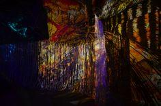 Oeuvre réalisée par le plasticien-performeur Yorga pour l'événement de la Semaine du Son.