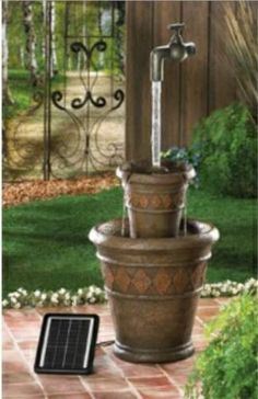 Floating Faucet Solar Fountain