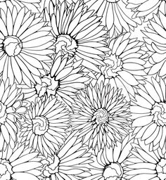 4127559-black-and-white-floral-seamless-pattern-with-hand-drawn-flowers.jpg (736×800)