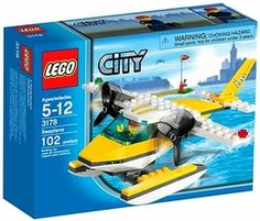 Black Friday 2014 LEGO City Seaplane from LEGO Cyber Monday. Black Friday specials on the season most-wanted Christmas gifts. Building Blocks Toys, Building For Kids, Lego Plan, Toddler Toys, Kids Toys, Lego Submarine, Planes For Sale, Brick Construction, Lego City Sets